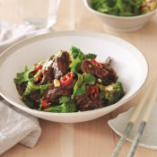 Watermarked Asian Inspired Beef with Greens
