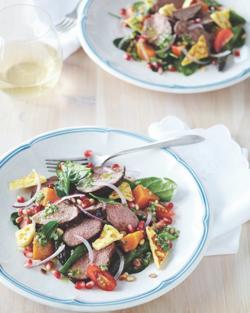 New Zealand Grass-fed Balsamic Glazed Lamb Salad Recipe