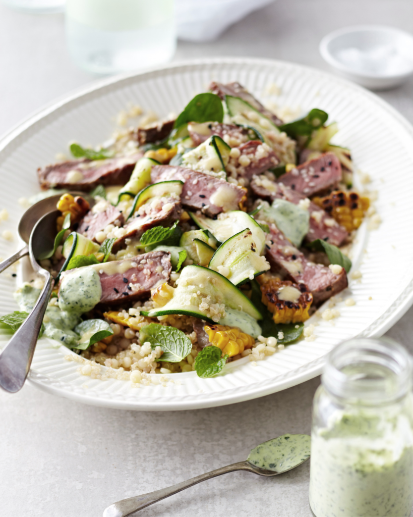New Zealand Grass-fed Beef & Grain Salad Recipe