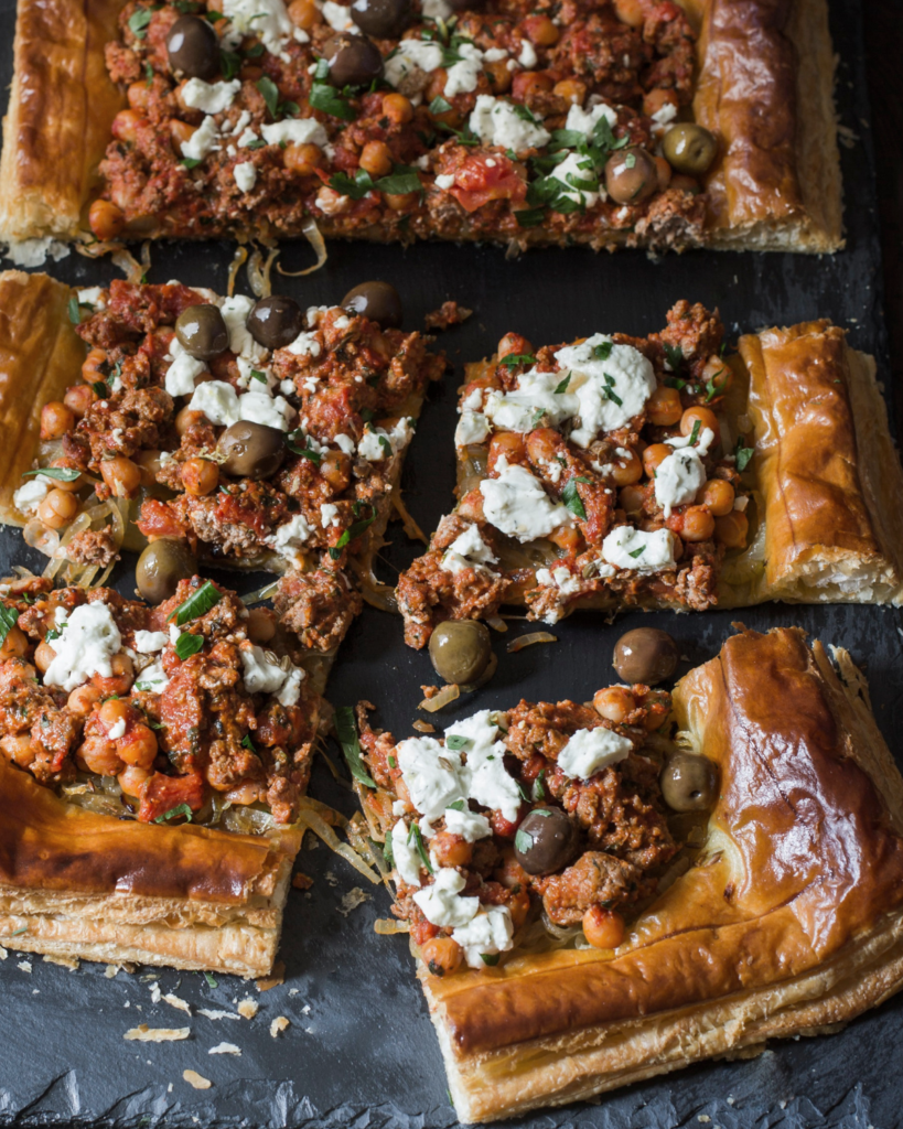 New Zealand Grass-fed Greek Lamb Tart Recipe