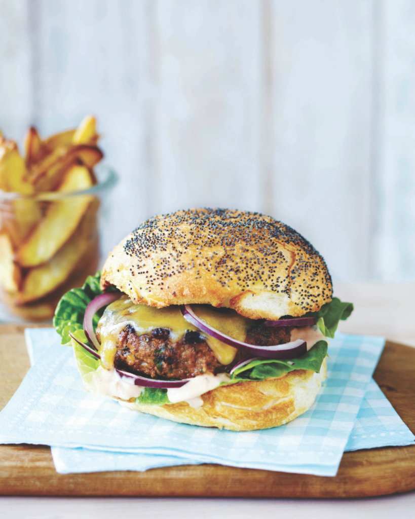 New Zealand Grass-fed Cheeseburgers with Secret Sauce Recipe