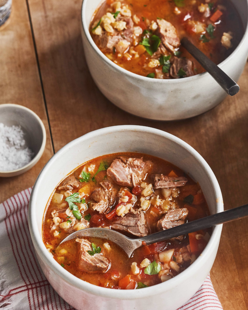 New Zealand Grass-Fed Lamb and Barley Soup Recipe