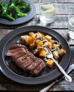 New Zealand Grass-fed Steak and Winter Pumpkin Panzanella Recipe