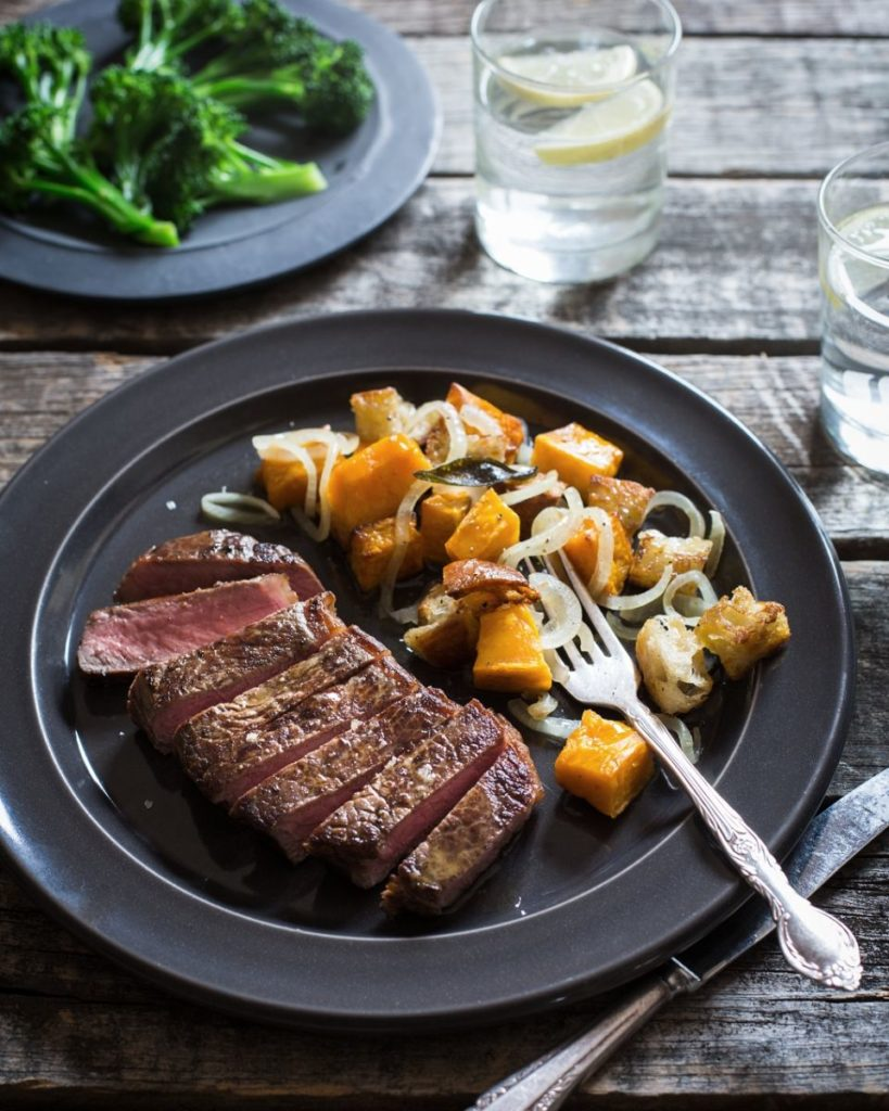 New Zealand Grass-fed Steak and Winter Pumpkin Panzanella Recipe