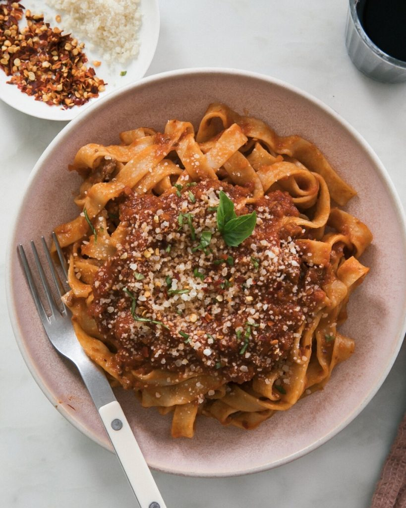New Zealand Grass-fed Lamb Bolognese Recipe from A Cozy Kitchen