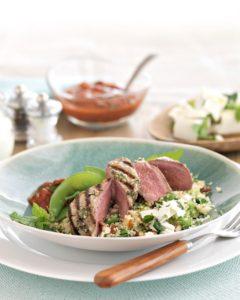 Silver Fern Farms New Zealand Grass-fed Lamb Steaks with Yogurt and Cilantro Marinade Recipe
