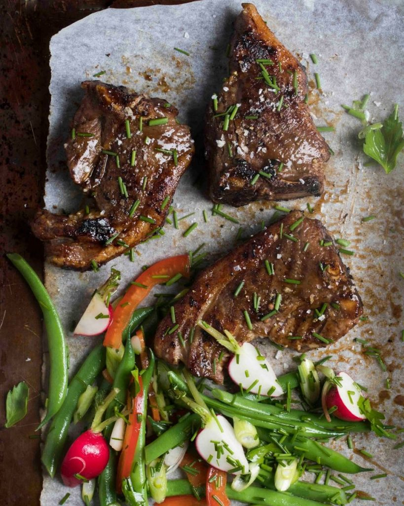Sticky-Glazed Grass-fed Lamb Chops Recipe