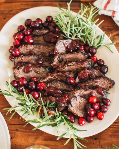 Cranberry Honey BBQ Holiday Ribs Recipe using New Zealand Grass-fed Beef