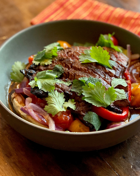 New Zealand Grass-fed Skirt Steak Saltado Recipe from Chef Stephanie Izard