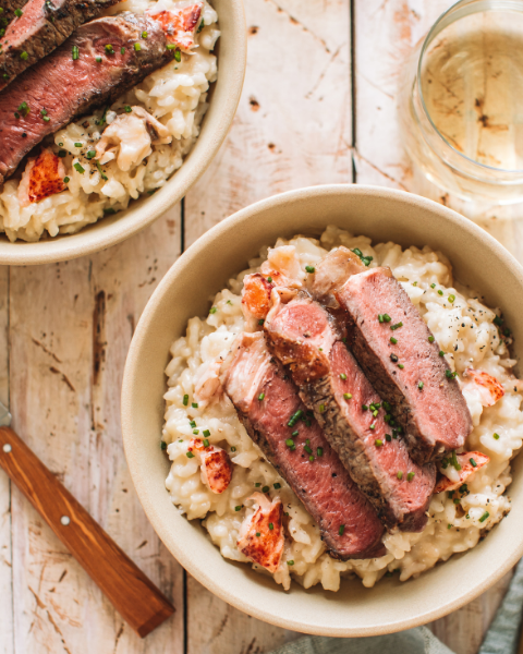 Surf & Turf Risotto Recipe with New Zealand Grass-fed Beef