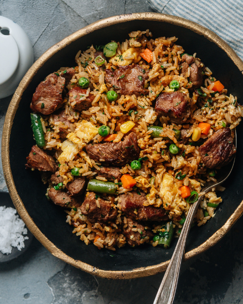 15-Minute New Zealand Grass-fed Lamb Fried Rice Recipe