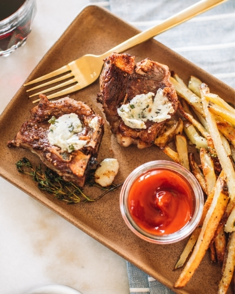 New Zealand Grass-fed Lamb Frites with Citrus Butter Recipe