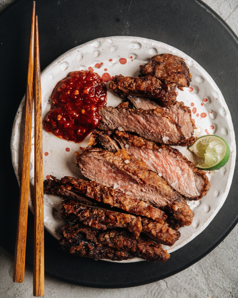 Fried New Zealand Grass-fed Lamb Steak Recipe