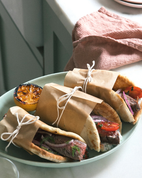 Grilled Steak Gyros Recipe from A Cozy Kitching using New Zealand Grass-fed Beef