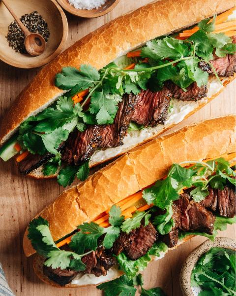 New Zealand Grass-fed Steak Banh Mi Recipe