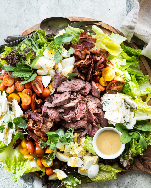 Flank Steak Cobb Salad Recipe from Foodness Gracious using New Zealand Grass-fed Beef