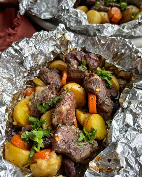 Beef Sirloin Foil Packets Recipe from One Balanced Life using New Zealand Grass-fed Beef