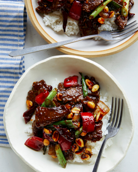 Kung Pao Beef Recipe from Spoon Fork Bacon using New Zealand Grass-fed Beef