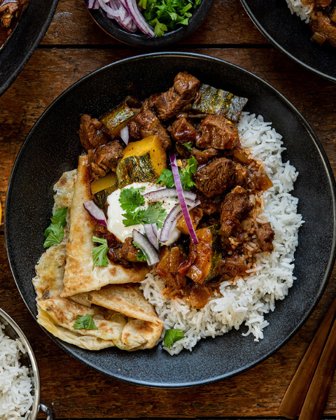 Grass-fed Lamb Curry Recipe from Bunny Eats Design using New Zealand Grass-fed Lamb