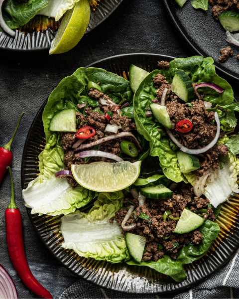 Thai Beef Larb Recipe from Bunny Eats Design using New Zealand Grass-fed Beef
