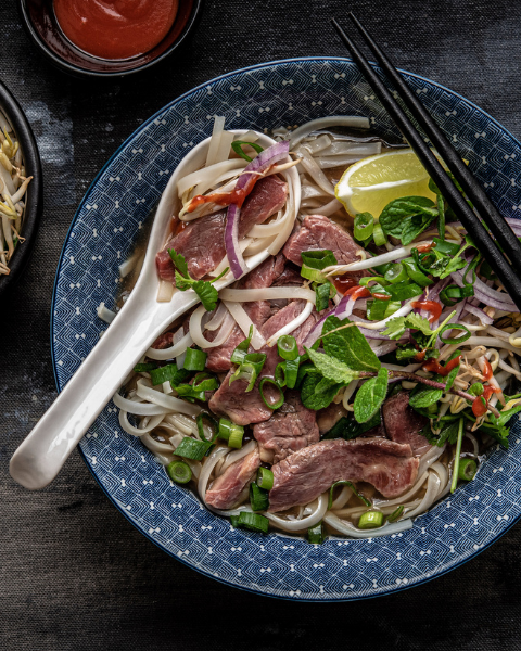 Vietnamese Grass-fed Beef Pho Recipe from Bunny Eats Designusing New Zealand Grass-fed Beef